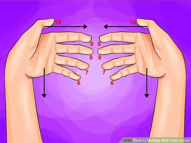 tabliczka mnozenia palcami na rekach 5